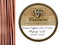 Vintaj Artisan Copper Parawire 18 gauge, 30 feet