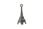 Zola Elements Patina Green Brass Eiffel Tower 10x23mm