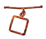Patricia Healey Copper Square Medium Toggle Clasp 23x18mm, 46mm bar