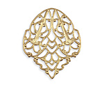 Vintaj Vogue Delicate Crest Filigree 28x33mm