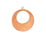 Copper Gypsy Hoop Blank 38x42mm