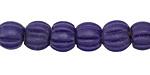 Nepalese Glass Cobalt Melon Beads 8-10x9-10mm