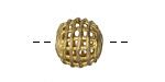 African Brass Basket Round 12-14mm