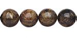 Bronzite Round 12mm