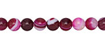 Ruby Line Agate Round 6mm
