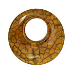 Yellow Fire Agate Donut 38mm