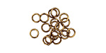 Antique Brass (plated) Round Jump Ring 4mm, 21 gauge
