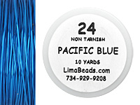 Parawire Pacific Blue 24 Gauge, 10 Yards