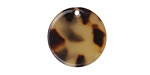 Zola Elements Light Tortoise Shell Acetate Coin Charm 20mm