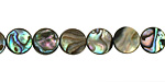 Abalone Puff Coin 8mm