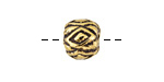 Greek Antique Gold (plated) Diamond Pattern Bead 10x12mm