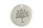 Vintaj Antique Sterling Silver (plated) Family Tree Blank 25mm