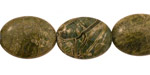 African Green Jasper Flat Oval 20x15mm