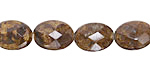 Bronzite Faceted Flat Oval 14x10mm