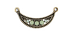 Zola Elements Antique Gold (plated) Green Opal Crystals Crescent Focal 30x15mm