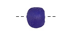African Recycled Glass Cobalt Tumbled Round (large hole) 11-14mm