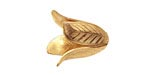 Brass Magnolia Leaf Bead Cap 18x14mm