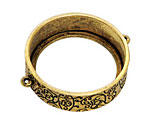 Nunn Design Antique Gold (plated) Grande Circle Open Bezel Link 42x35mm