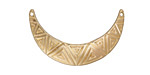 Zola Elements Matte Gold (plated) Aztec Crescent Focal Link 32x17mm