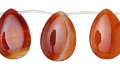 Carnelian (natural) Flat Teardrop 18x25mm