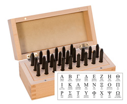 Greek Alphabet Stamp Set w/ Box 2.5mm