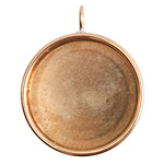 Nunn Design Brass Grande Deep Circle Bezel Pendant 38x46mm