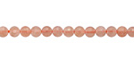Peach Moonstone Faceted Puff Coin 4mm