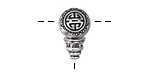 Zola Elements Antique Silver Finish Longevity Guru Bead 10x18mm