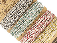 Festive Occasion Hemp Twine 20 lb, 29.8 ft x 4 colors