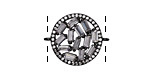 Vintage Style Pave CZ Gunmetal (plated) Coin Focal Link 24x22mm