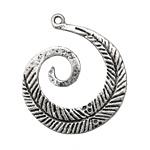 Zola Elements Antique Silver (plated) Feather Swirl Focal 36x45mm