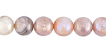 Peach Moonstone w/ AB Luster Round 9-10mm