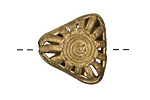African Brass Radiant Sun Triangle 23-25mm