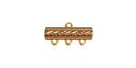Brass Dotted Bar 1-3 Link 18x9mm