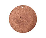 Nunn Design Antique Copper (plated) Flat Grande Circle Tag 31mm