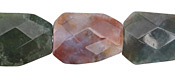 Fancy Jasper Faceted Flat Slab 24-26x18mm