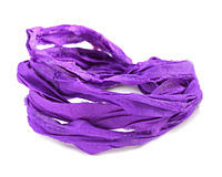 Violet 100% Silk Sari Ribbon