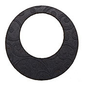 Lillypilly Black Spiral Embossed Leather Large Open Round 50mm