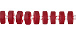 Cherry Red Recycled Glass Heishi 8mm