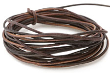 Natural Black Brown Leather Cord 1.5mm