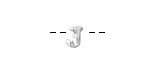 "Sterling Silver Letter ""J"" Charm Slide 6mm"