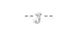 """Sterling Silver Letter """"J"""" Charm Slide 6mm"""