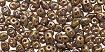 Opaque Olive Bronze Picasso SuperDuo 2x5mm Seed Bead