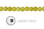 Olive Jade Round (Large Hole) 6mm
