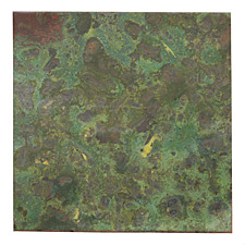 "Lillypilly Verde Patina Copper Sheet 3""x3"", 36 gauge"