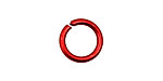 Red Anodized Aluminum Jump Ring 14mm, 14 gauge (9.6mm inside diameter)