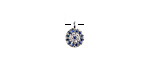Sky Mix Pave CZ Stainless Steel Coin Charm 6.5x9mm