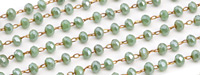 Sage Crystal 3mm Delicate Brass Bead Chain