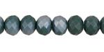Matte Spruce AB Crystal Faceted Rondelle 8mm
