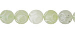 Green Soochow Jade Carved Circles Round 9-10mm